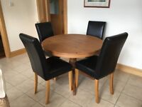 Marks and Spencer antiqued pine dining table