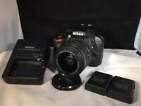 Nikon D3300 With 18-55mm AF-P Lens - Charger - 2 Extra Batteries