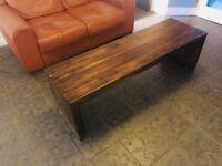 Leather Sofa & Coffee Table