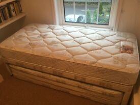 Single Divan with trundle to make Double bed