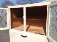 Lovely retro 1950s storage cupboard with integrated sideboard, perfect for a refurb
