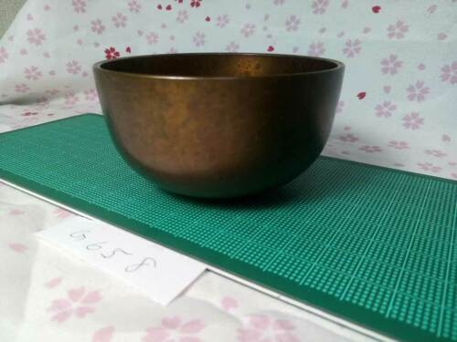 """3.425""""Japanese Buddhist Bell Zen Gong Rin G658 Good Sound  VTG"""
