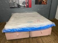 SUPER KING SIZE OTTOMAN WITH MATTRESS SEALED LOTS OF STORAGE UNDERNEATH