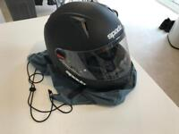 Spada Matte Black motorbike helmet large