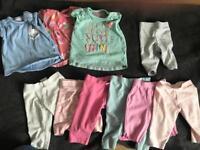 Baby girl tshirt and legging set 0-3 months