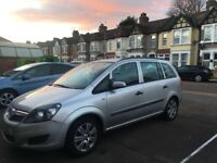 VAUXHALL ZAFIRA 2009 LIFE MPV 7 SEATER 1.6 PETROL PCO LICENCED CAR READY FOR WORK CHEAP CAR