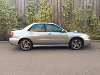 SUBARU IMPREZA + 2.0 WRX TURBO + 2005 + 4 DOOR SALOON + GREY