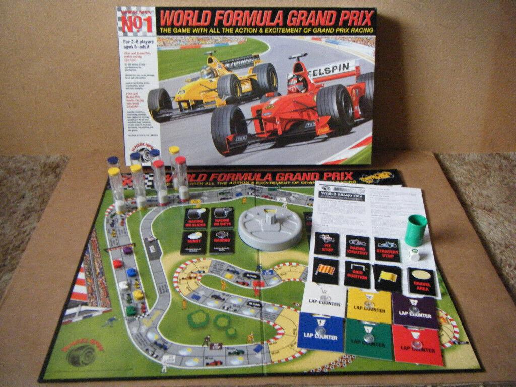 World Formula Grand Prix Motor Racing Board Game By
