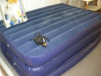 DOUBLE SIDE BLOW UP BED C/W ELEC PUMP