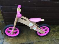 Halfords balance bike - pink