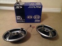ALPINE 6 X 9 CAR SPEAKERS - 250W -SPS-69C3