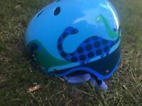Boys toddler helmet blue dinosaur