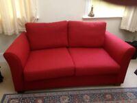 Gainsborough 2.5 Seater Sofa Bed in raspberry colour fabric. Super condition.