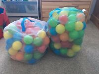 Two Bags of Children's Ball Pit Balls Excellent Condition