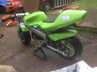 Mini moto 50cc unrestricted model