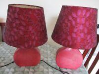 2 X Lace Lamps