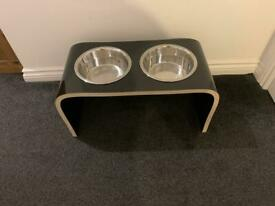 Raised Dog and Water bowl/stand