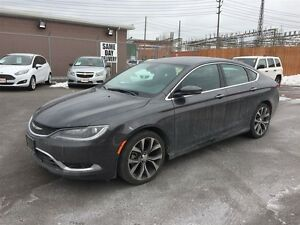 2016 CHRYSLER 200 C - PANORAMIC SUNROOF, HEATED LEATHER SEATS, H