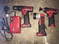 Snap on 14.4v drill and body prep/polisher and torch set