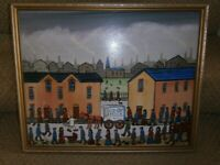 Oil Painting in Lowry Style