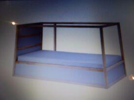 CHILDRENS IKEA KURA REVERSIBLE BED AND TENT