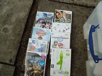 Wii Fit with console, wi fit board, hand controls, 4 nut chucks