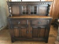 Solid oak drawer dresser
