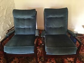 Vintage 1960's pair of fireside chairs Cintique