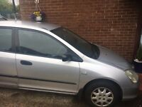 2003 Honda Civic, full year MOT, 1.4 Ltr