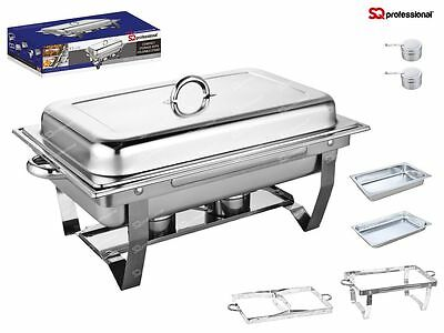Single Compartment 9.5L Chafing/Buffet/Party Dishes or Food Warmer Folding Stand Single Compartment Dish