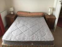 Double bed (mattress and divan base with 2 drawers) Hardly used