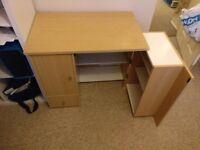 Fold away computer desk