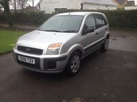 09 Plate Ford Fusion 1.4 tdci. MOT May 17. 5 door, Silver, £30 per year road tax. Good Condition.