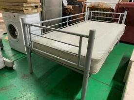 Metal frame brand NEW day bed and used mattress