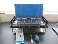 CAMPING, CAMPINGAZ GAS COOKER, 2 BURNERS AND GRILL