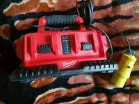 Milwaukee M1418C6 Multi Doc Charger M18 multibay 6 Dock battery charger 110 volt