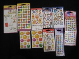 10 Various Self Adhesive Children's Stickers