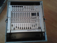 Behringer Eurorack MX1804X Mixing Desk with Flight Case. Never Used