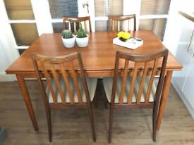 G-Plan Table and 4 Chairs Free Delivery Ldn midcentury Retro