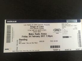KING OF LEON - Newcastle - Standing - Friday 24th March