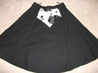 LADIES COWGIRL SILVER DOLLAR LINE DANCE SKIRT SIZE 12