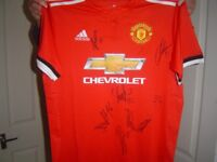 man united signed home shirt