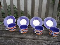 Unused set of 4 Cappuccino cups and saucers