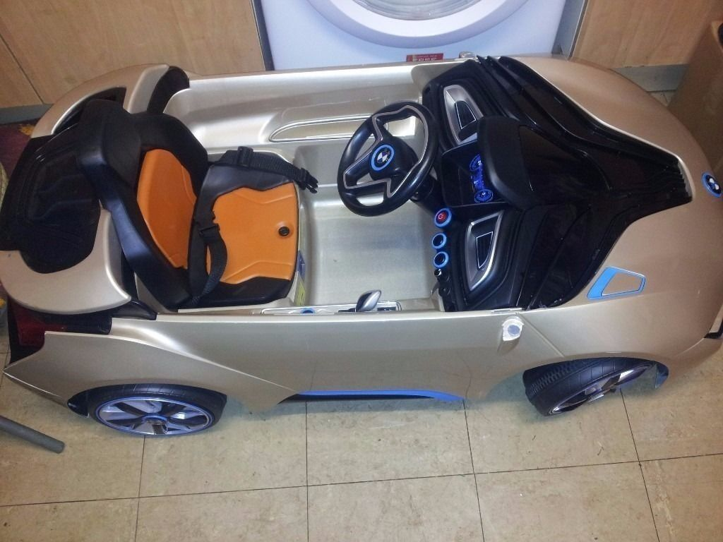Kids Bmw I8 Concept Battery Powered Ride On Car With Charger In