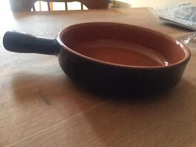 Dark blue terracotta pan
