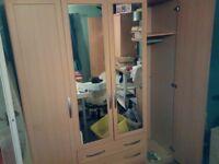 4 door wardrobe. £60