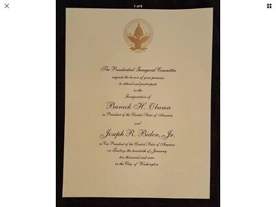 2009 Obama Biden Official Inauguration Invitation - FREE Shipping