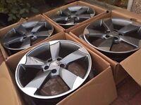 "Rotor Alloys Grey 19"" TTRS fits Audi VW"