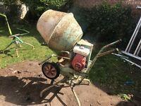 Petrol cement mixer Honda engine