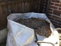1000 kilogram bags worth of gravel